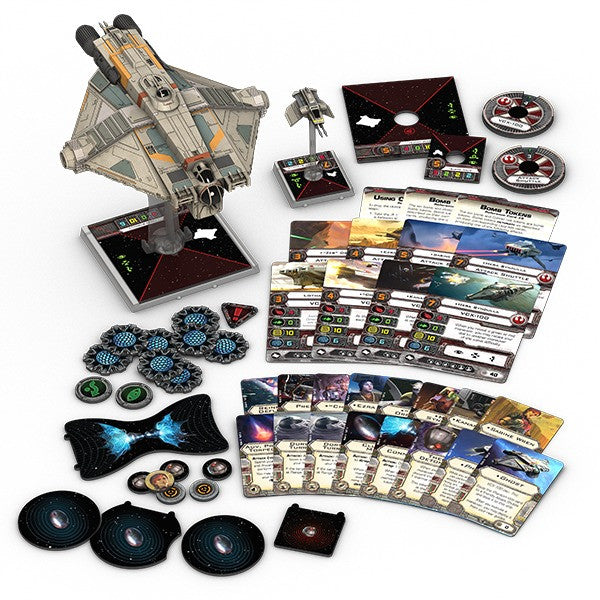 Star Wars X-Wing Wave VIII Starships Bundle - Ghost, Inquisitor's TIE, Mist Hunter, Punishing One