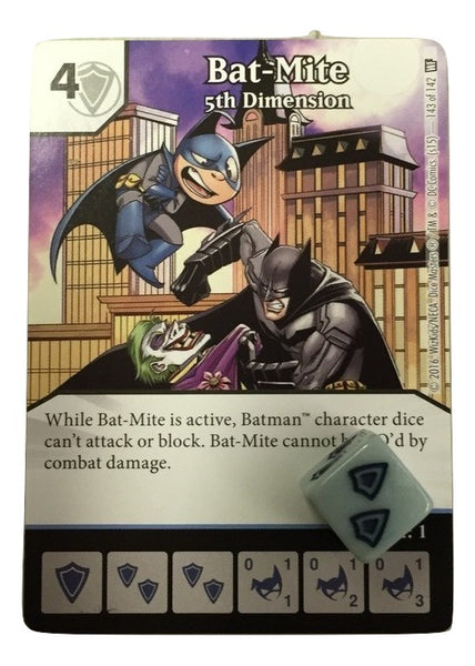 DC Dicemasters World's Finest Bat-Mite Promo Card and Die