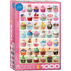 EuroGraphics Cupcake Celebration Puzzle (1000-Piece), Model Number: 6000-0586