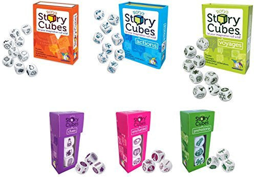 Rory's Story Cubes - Original, Actions, Voyages, Prehistoria, Enchanted, Clues (Set of 6)