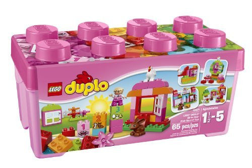 LEGO DUPLO Creative Play 10571 All-in-One-Pink-Box-of-Fun