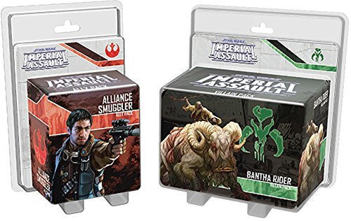 Star Wars Imperial Assault - Ally and Villain Pack Wave 4 Bundle (Alliance Smuggler and Bantha Rider)