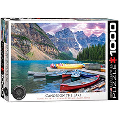 EuroGraphics Canoes on The Lake Jigsaw Puzzle (1000-Piece)