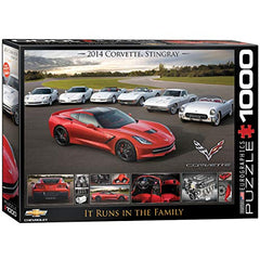 EuroGraphics 2014 Corvette Singray: It Runs in the Family Jigsaw Puzzle (1000-Piece)