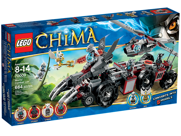 LEGO Chima 70009 Worriz Combat Lair - 664 Pieces - Ages 8 and Up