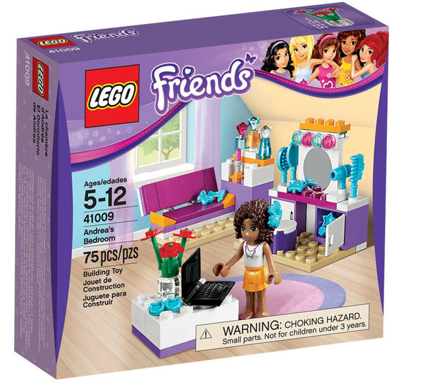 LEGO Friends Andrea's Bedroom 41009 - 75 Pieces - Ages 5 and Up