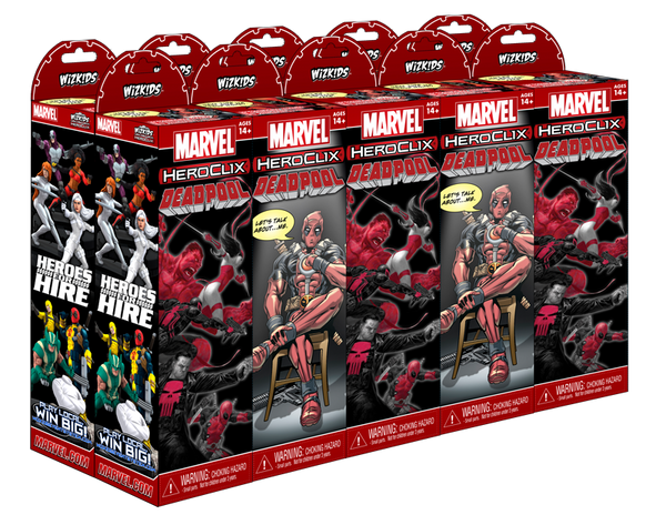 Marvel HeroClix: Deadpool Booster Brick (10 Pack) featuring the Villian Zombies
