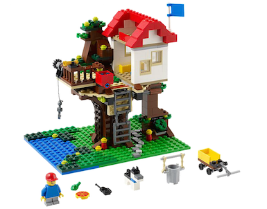 LEGO Creator Treehouse 31010 - Three In One - 356 Pieces - Ages 7 and Up