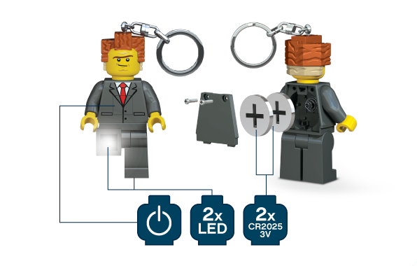 LEGO Movie President Business LED Key Light, LGL-KE44, Ages 5 and Up