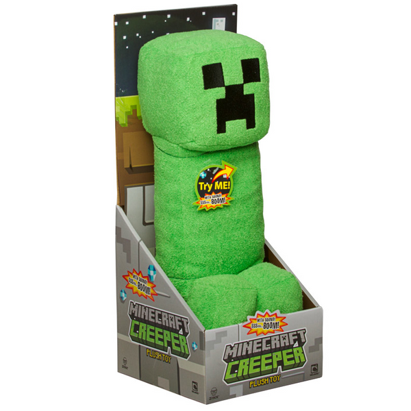 "Mojang Official Minecraft Creeper Plush with Sound by Jinx, 15"" Large"