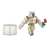 Minecraft Overworld Iron Golem Action Figure with Iron Ore Block and Red Rose (Series #2)