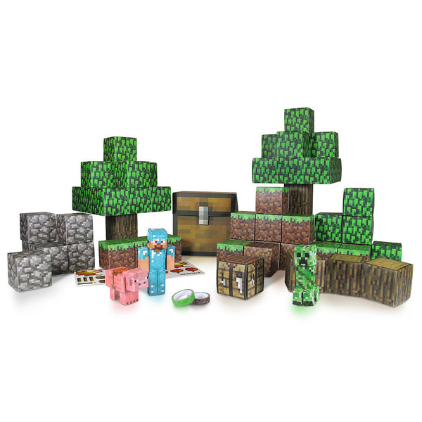 Minecraft Papercraft Overworld Deluxe Set