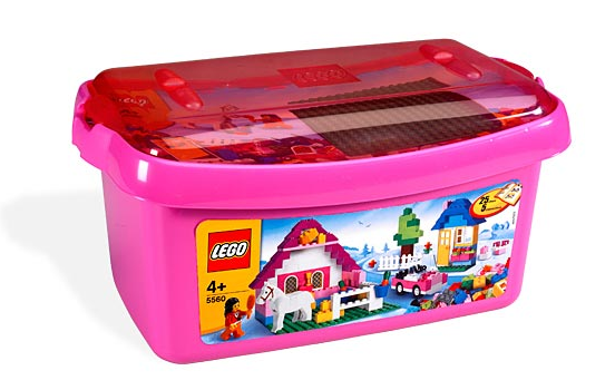 LEGO Bricks & More - Pink Brick Box Large #5560 - 402 Pieces - Ages 4 and Up