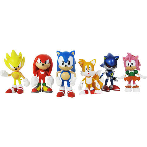 Sonic the Hedgehog Mini Figure Classic Collector's Set - Knuckles, Sonic, Super Sonic, Amy, Metal Sonic & Tails