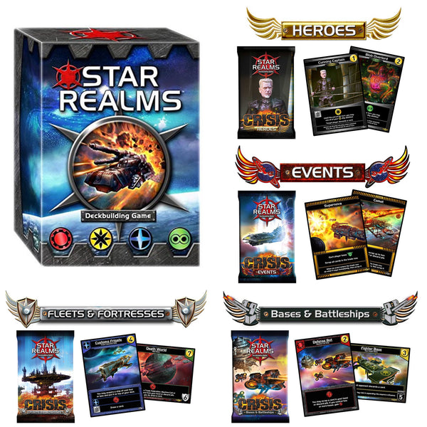 Star Realms Deck Building Game and Crisis Expansion Bundle
