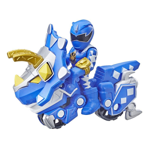 Playskool Heroes Power Rangers Blue Ranger and Raptor Cycle