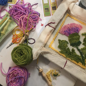 Rug Hooking & Needle Punch Open Studio | Wednesdays, 9am-1pm