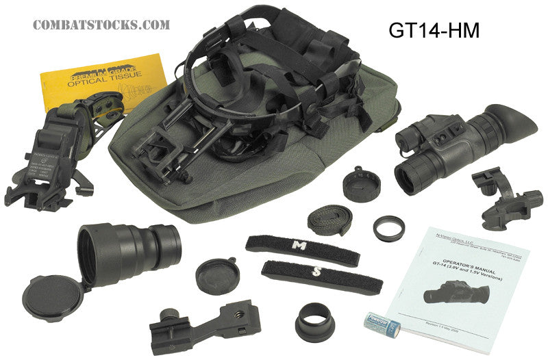 N-Vision GT-14 Head & Helmet Mount Kit