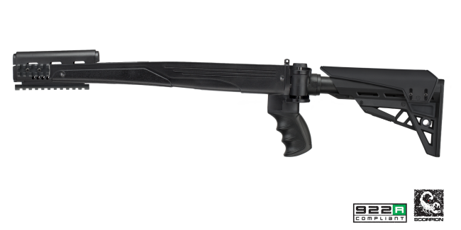 ATI SKS Tactlite Adjustable Side Folding Stock with Scorpion Recoil System