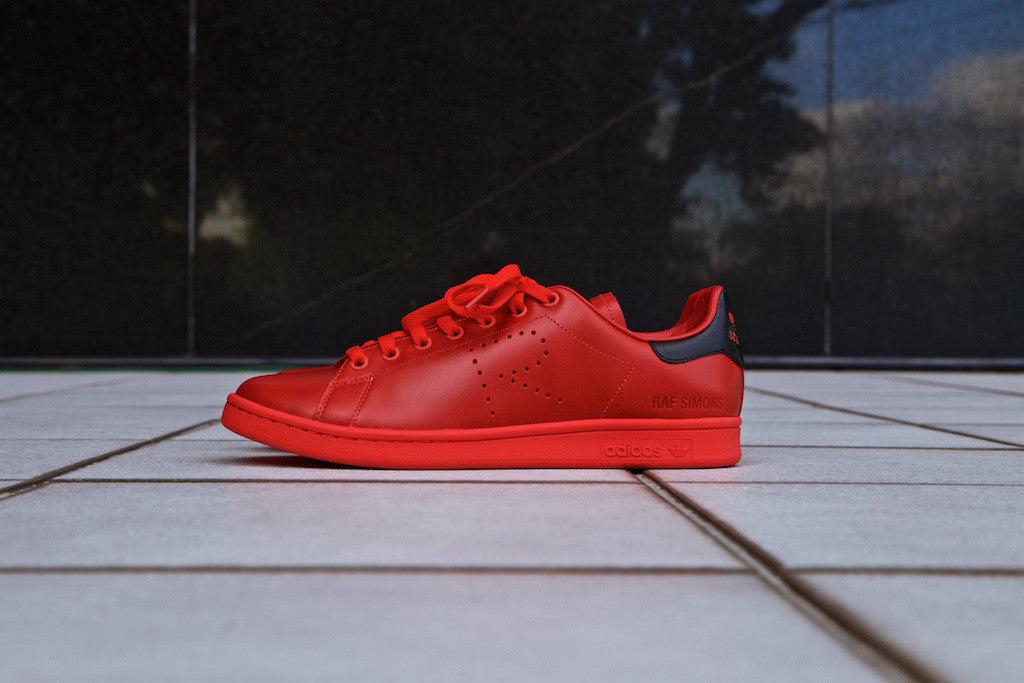 ac5ee44d7 ... where can i buy adidas stan smith x raf simons all red addict miami  ffde9 762d0