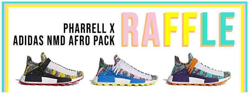 "adidas x Pharrell Williams Human Race NMD ""Afro Pack"" Raffle"