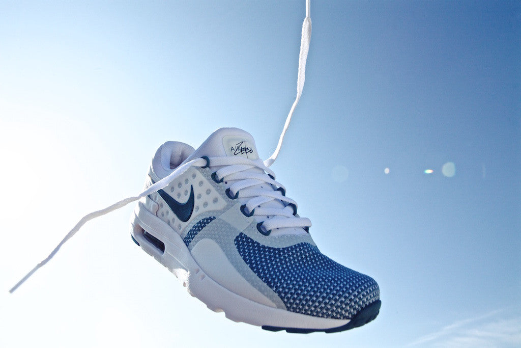 The Nike Air Max Zero Essential Pops in Smokey Blue and White Color Combos