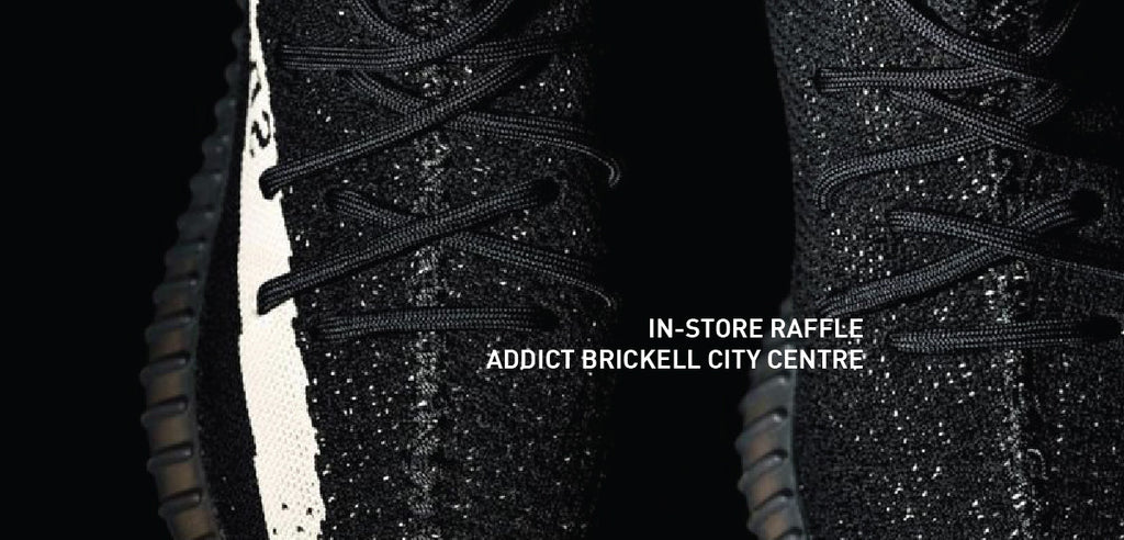 In-Store YEEZY Boost 350 Black/White Raffle