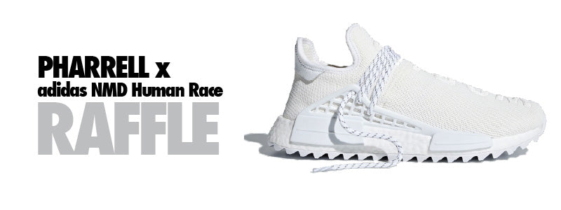 "Pharrell x adidas NMD Human Race TR ""Cream"" Raffle. In-Store and Online Raffle"