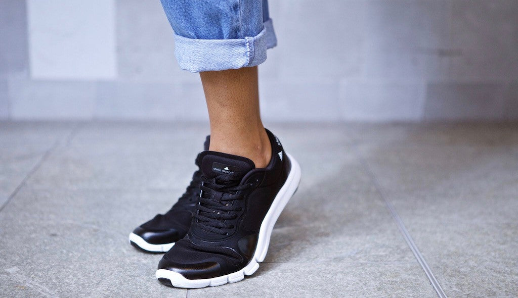 Anais in the Stella McCartney Adipure Trainer