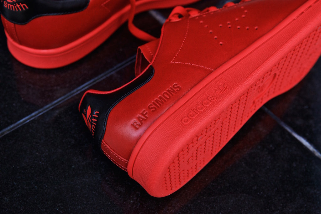 af29664a8 ... hot adidas stan smith x raf simons all red 51f7a 7172b