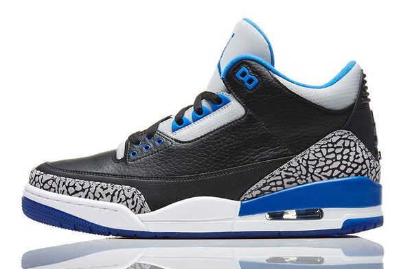 684ea0eb93f2 Air Jordan Retro 3 Sport Blue - ADDICT Miami