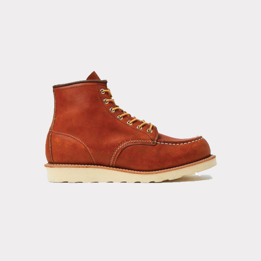 Red Wing Moc Toe Boot Brown Leather Women 3375