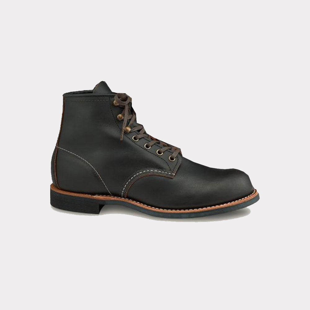 Red Wing Blacksmith Men's 6-Inch Boot in Black Prairie Leather 03345