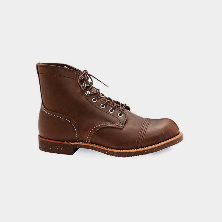 Red Wing 6 Inch Iron Ranger Boot Leather Amber 08111