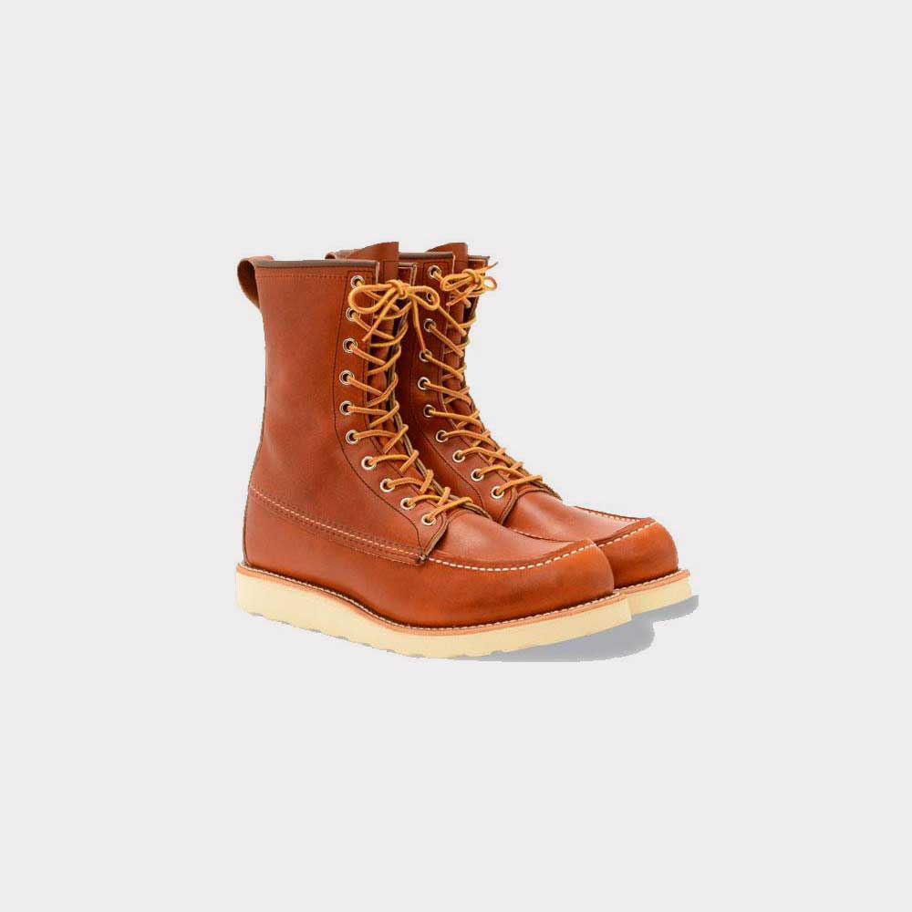 Red Wing 8 Inch Classic Moc Oro Legacy Leather 0877