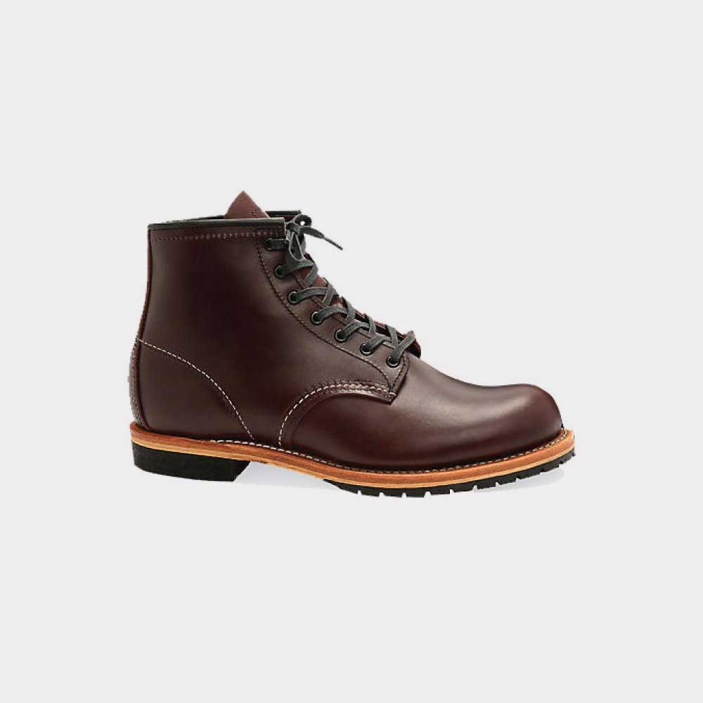 Red Wing 6 Inch Beckman Round Boot Leather Black/Cherry 09011