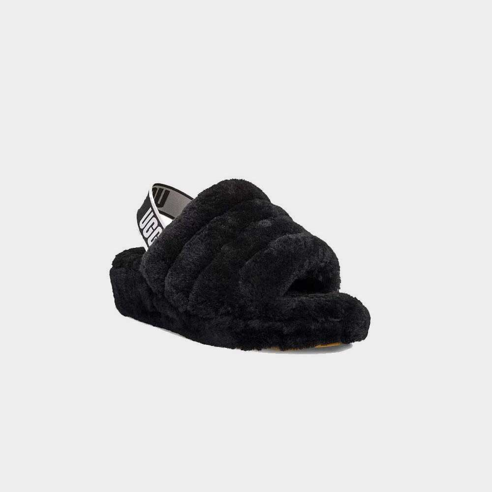 UGG Fluff Yeah Slide Black Women 1095119-BLK