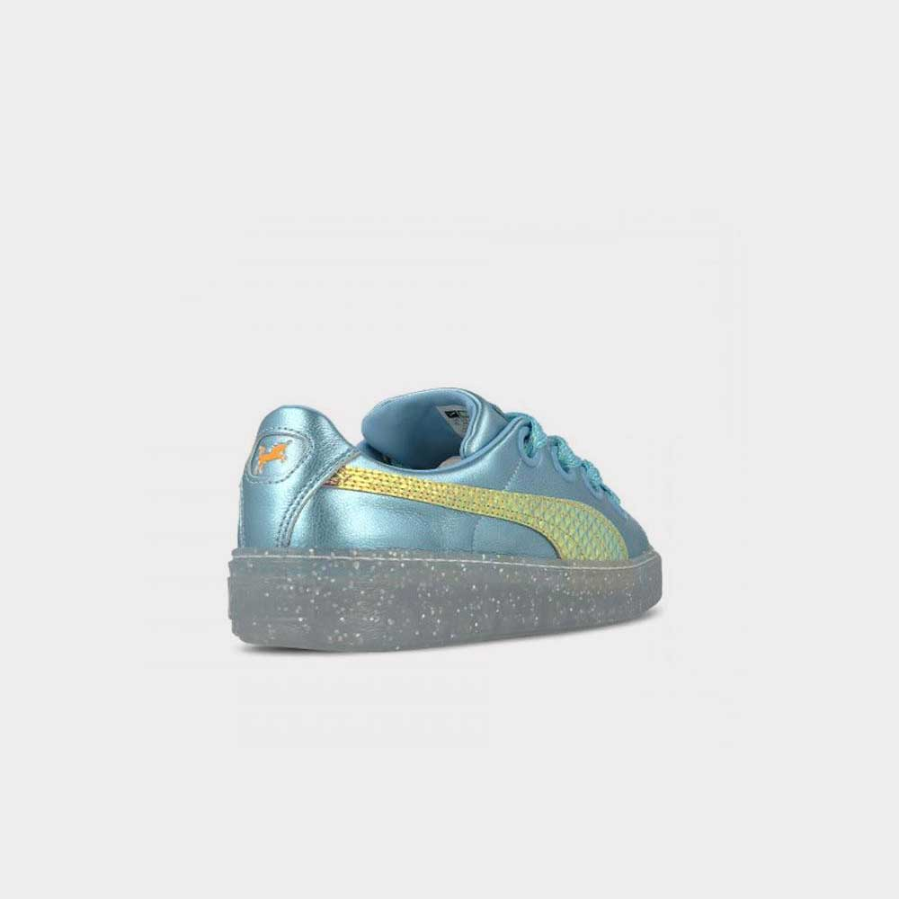 Puma x Sophia Webster Platform Glitter Princess Blue/Gold Women 366131 01