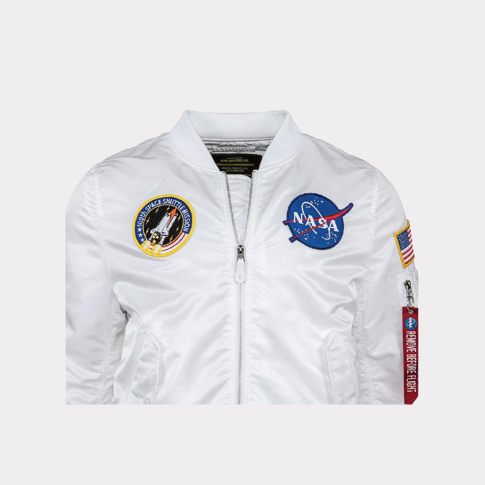 Alpha Industries L-2B Nasa White Jacket Men