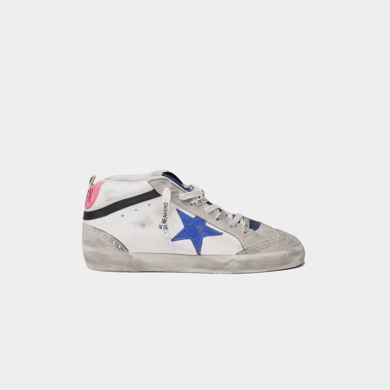 Golden Goose MID Star Leather Upper and Wave Suede Star Denim Tongue GWF00122.F000263.80269