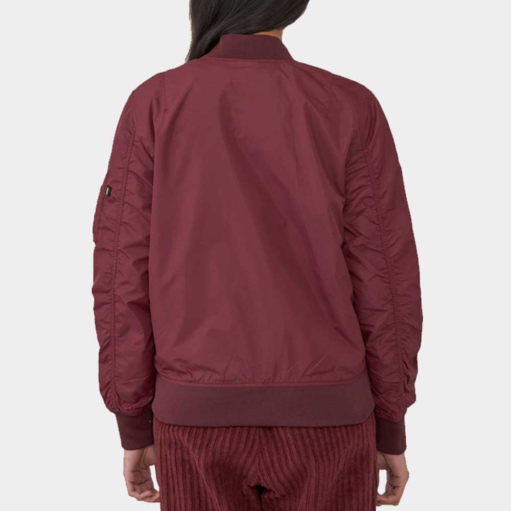 Alpha Industries Womens Nylon Woven Jacket Maroon L-2B Scout