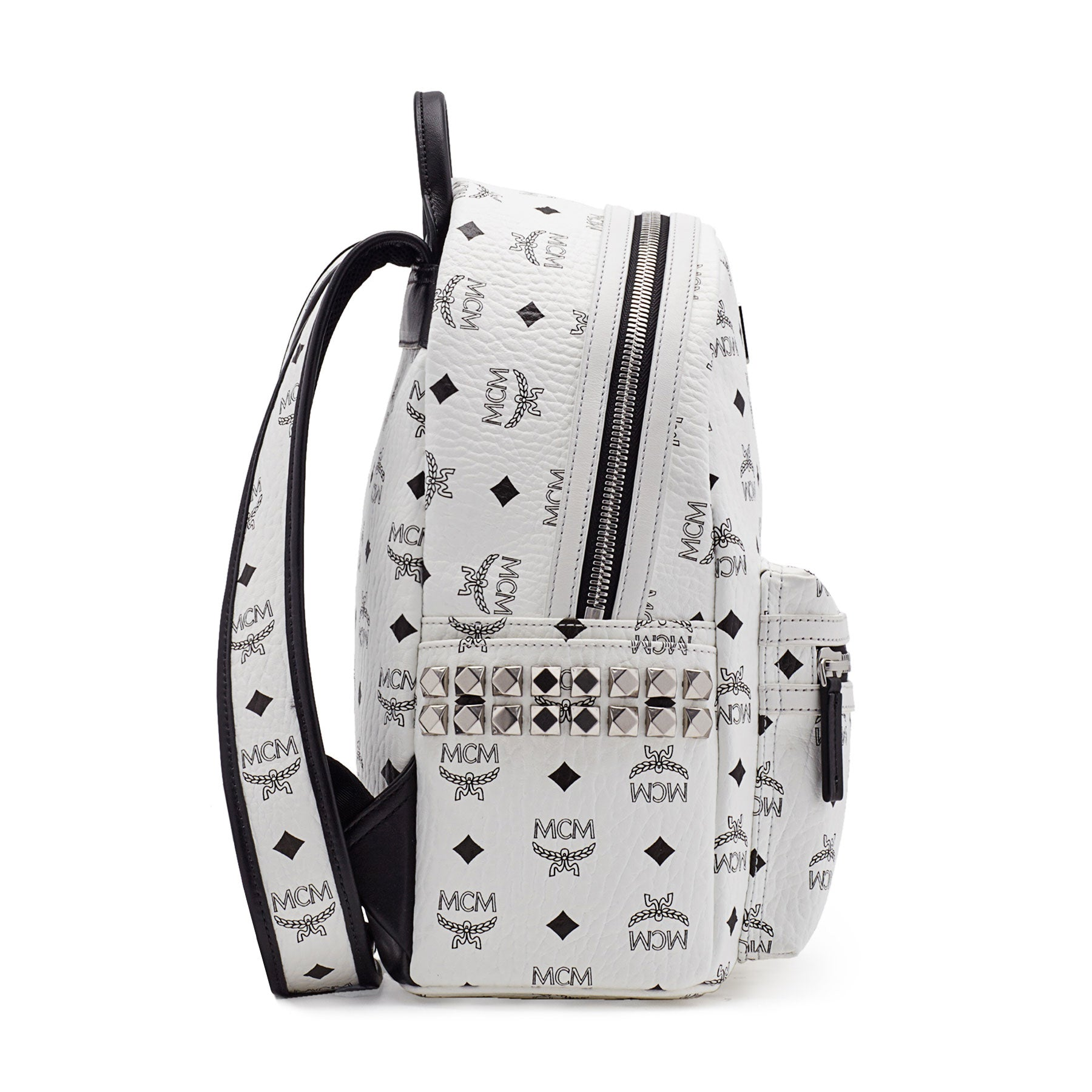 7a0a62bf6ba ... MCM Backpack In Side Studded Visetos Stark (Small) MMK6SVE37CO001 ...