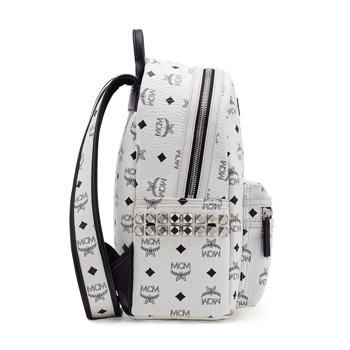MCM Backpack In Side Studded Visetos Stark (Small) MMK6SVE37CO001