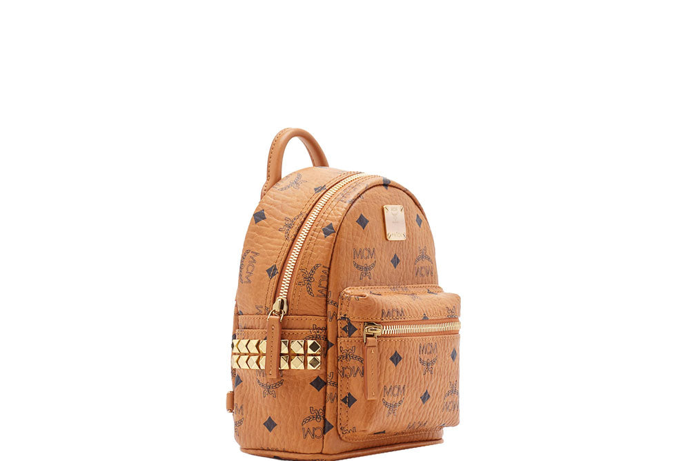 4997ba98dd3 ... MCM Stark Backpack Side Studs (X-Mini) Cognac MMK6SVE92CO001 ...