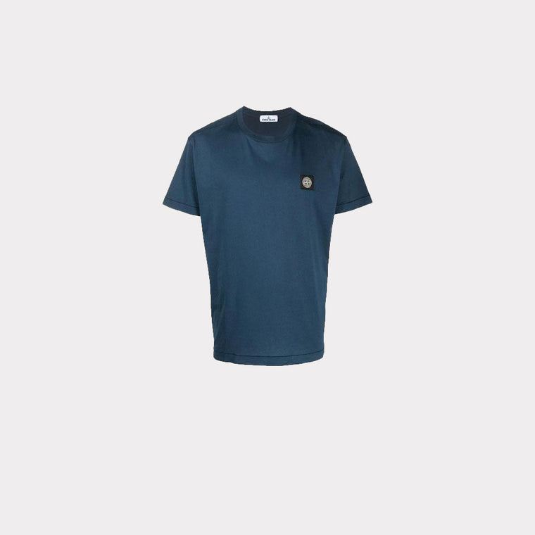 Stone Island T-Shirt Patch Logo Navy MO721524113-V0028
