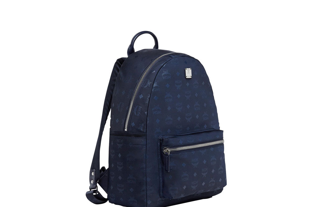 MCM Stark Monogram Backpack Nylon (Medium) Navy MUK7ADT10VA001