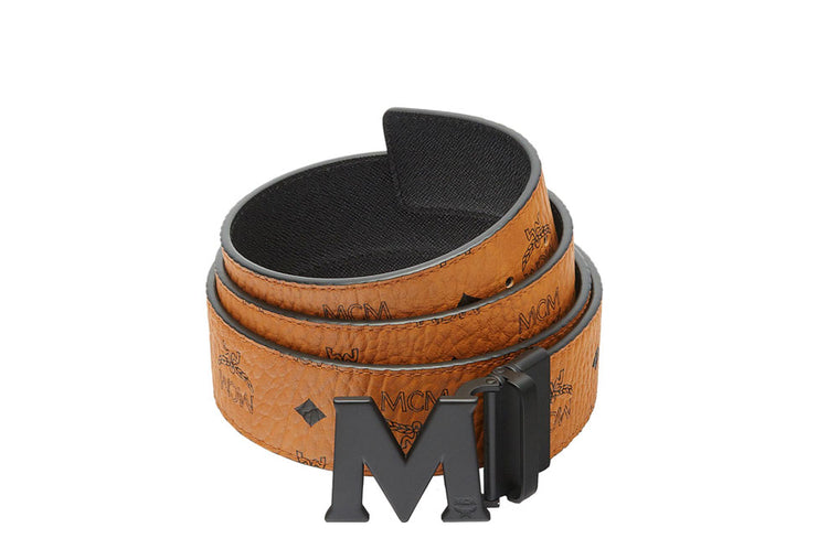 "MCM Reversible 51"" M Belt Cognac/Black MXB7SVI10CO001"