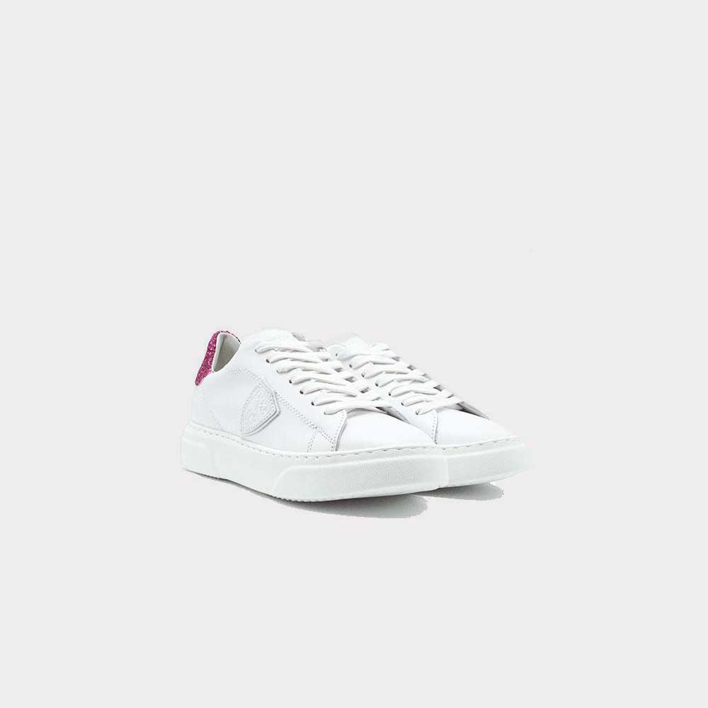 Philippe Model Temple Glitter White/Fucsia Women VG01