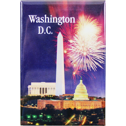 Fireworks & Three Monuments 2D Magnet 2