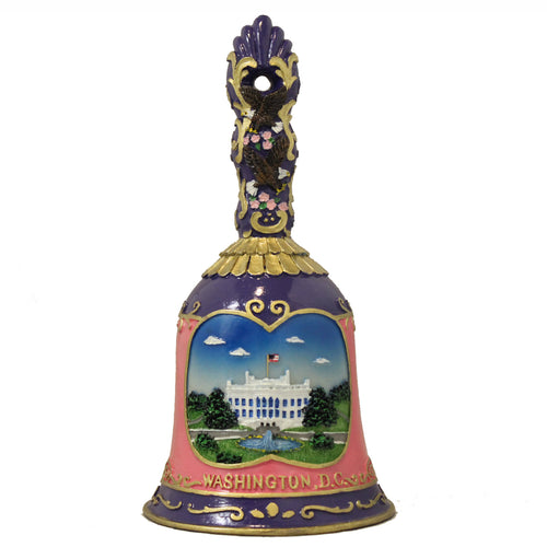 White House Cherry Blossom Large Purple Ceramic Bell 6.5